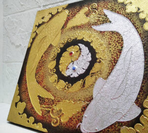 ภาพแขวนรูปปลาคราฟคู่