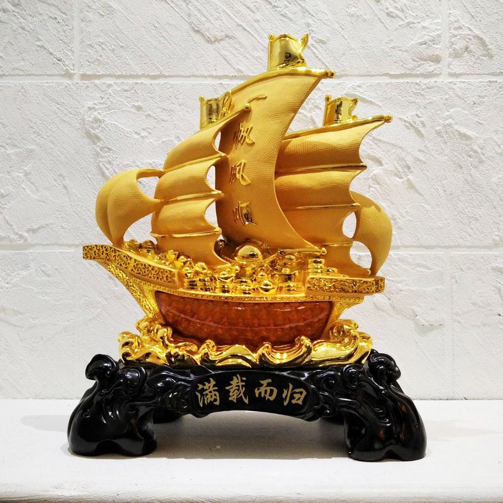 เรือใบจีนมงคล 24 นิ้ว ของขวัญขึ้นบ้านใหม่เจ้าของธุรกิจ