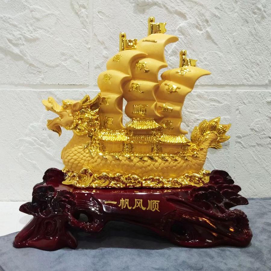 เรือสำเภามงคลจีนหัวมังกร ของขวัญเปิดร้านใหม่ยอดนิยม